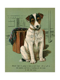 Dog with Luggage Giclee Print