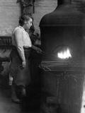 Female Blacksmith Photographic Print