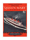Front Cover of Weekly Illustrated Magazine - Queen Mary (Steamship) Special Issue Premium Giclee Print