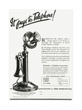 Advert for Using a Telephone Giclee Print