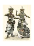 Devil Dancers, Sri Lanka Giclee Print