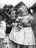 Slovak Mother and Child Photographic Print