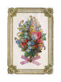 Bouquet, Flowers, Card Giclee Print
