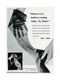 Advert for Aristoc Stockings 1936 Giclee Print