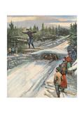 Ski Jumping, Norway 1907 Giclee Print