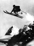 Flying Skier! Fotografisk tryk