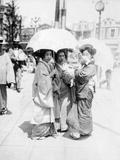 Three Japanese Girls Photographic Print