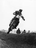 Motocross Scrambling Papier Photo