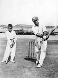 Don Bradman Gives Lesson Photographic Print