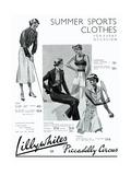 Advert for Lillywhites Women's Sportswear 1936 Giclee Print