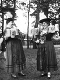 German Bar Maids Photographic Print