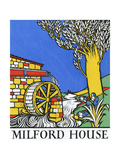 Mill House and Watermill Running in a Stream Giclee Print