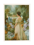 Portrait of a Lady in a Garden Giclee Print