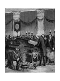 Masonic Funeral Giclee Print