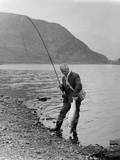 Salmon Fishing Photographic Print