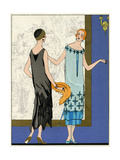 Two Ladies in Dresses by Doeuillet Giclee Print