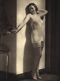 Young Model in Silky Underwear 1935 Photographic Print