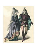 Costume, Bourgogne C15 Giclee Print