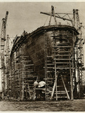 Queen Mary Ocean Liner, in Construction Photographic Print