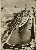 Queen Mary' Ocean Liner, Entering Dry Dock at Southampton Photographic Print