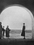 Gertrude Bell Looking Out into the Desert - Iraq Photographic Print