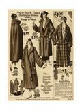 American Ladies Coat Fashion Giclee Print