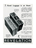 Advert Fo Revelation Suitcases 1937 Giclee Print