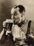 Man Enjoying a Pint of Beer Photographic Print