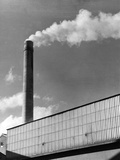 Cement Works Chimney Photographic Print