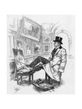 Armless Painter Charles Felu Giclee Print