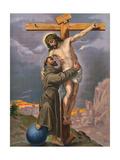Francis and Jesus Wydruk giclee