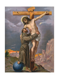 Francis and Jesus Giclee Print