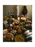 British Country Fare Giclée-tryk