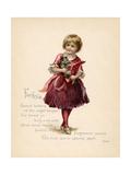 Fuchsia, 'Language of Flowers' Premium Giclee Print