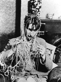 Knitting Spaghetti Photographic Print