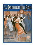 Prohibition Ball 1918 Giclee Print