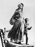 Pioneer Woman Sculpture Photographic Print