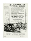 Help to Save Our Wounded Horses 1917 Giclee Print