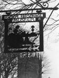Haworth Parsonage Sign Photographic Print