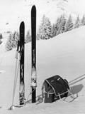 Skiing Equipment Fotografisk tryk