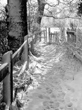 Kissing Gate in the Snow Photographic Print
