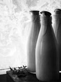 Frozen Milk Bottles Photographic Print