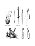 Asian Musical Instruments Giclee Print