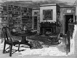 Rw Emerson, Home, Library Photographic Print