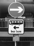 Bus Lane Sign Photographic Print