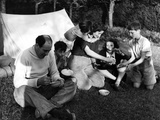 Family Camping Meal Photographic Print