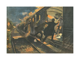 French Train Robbed Giclee Print