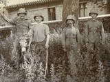 British Soldiers with a Donkey in China Photographic Print