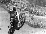 Motocross Scrambling Photographic Print
