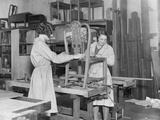 Women Upholsterers Photographic Print